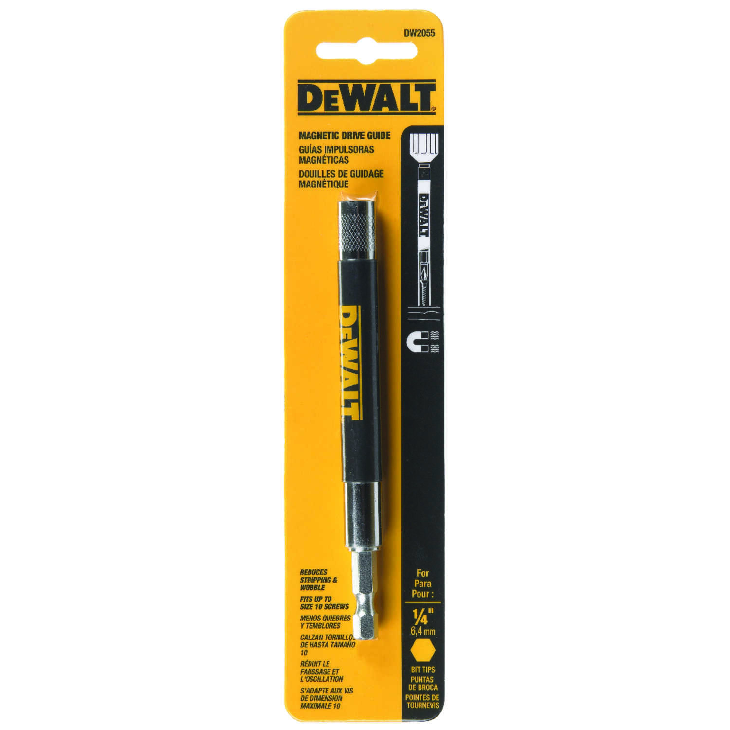 DeWalt  1/4 in.  x 6 in. L Drive Guide  1/4 in. 10 pc. Heat-Treated Steel