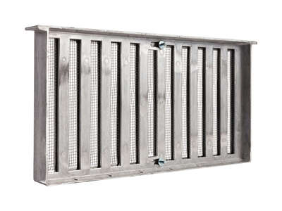 Master Flow  8 in. H x 16 in. W Mill  Aluminum  Foundation Vent