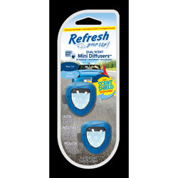 Refresh Your Car!  Mini Diffusers  New Car And Cool Breeze Scent Car Air Freshener  0.2 oz.