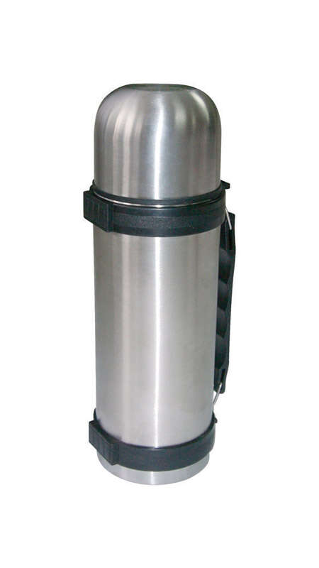 Bene Casa  34 oz. Thermos Bottle  Silver/Black
