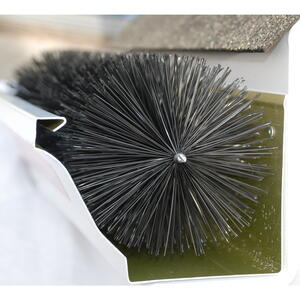 GutterBrush  4.3 in. W x 1.5 ft. L Black  Polypropylene/Steel  Gutter Guard