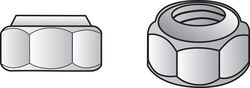 Hillman 3/8 in. Stainless Steel SAE Nylon Lock Nut 50 pk