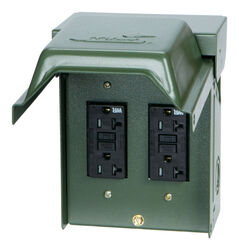 GE  Midwest  20 amps 120 volt Surface Mount  Power Outlet Box