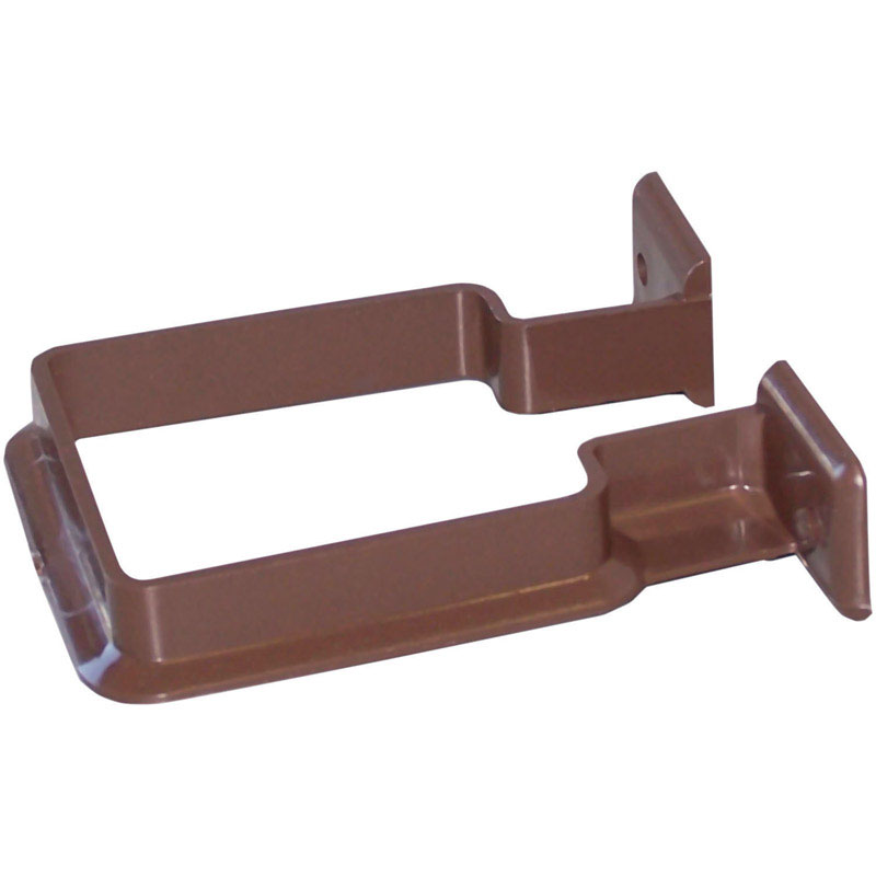 Raingo  3.2 in. H x 1 in. W x 4.2  L Vinyl  Downspout Bracket  Brown