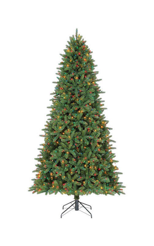 Celebrations  Multicolored  Prelit 9 ft. Grand Fir  Artificial Tree  1200 lights 2,563 tips