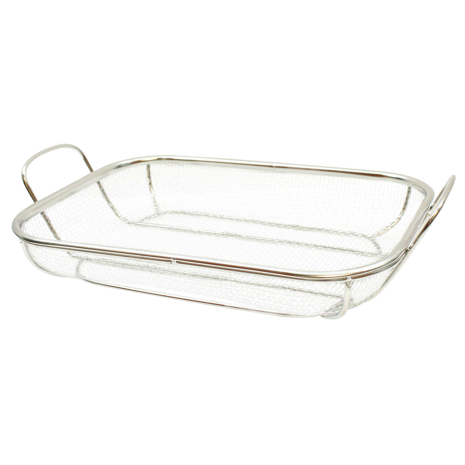 Tablecraft  BBQ  11 in. W x 18 in. L Silver  Stainless Steel  Rectangular Grilling Basket