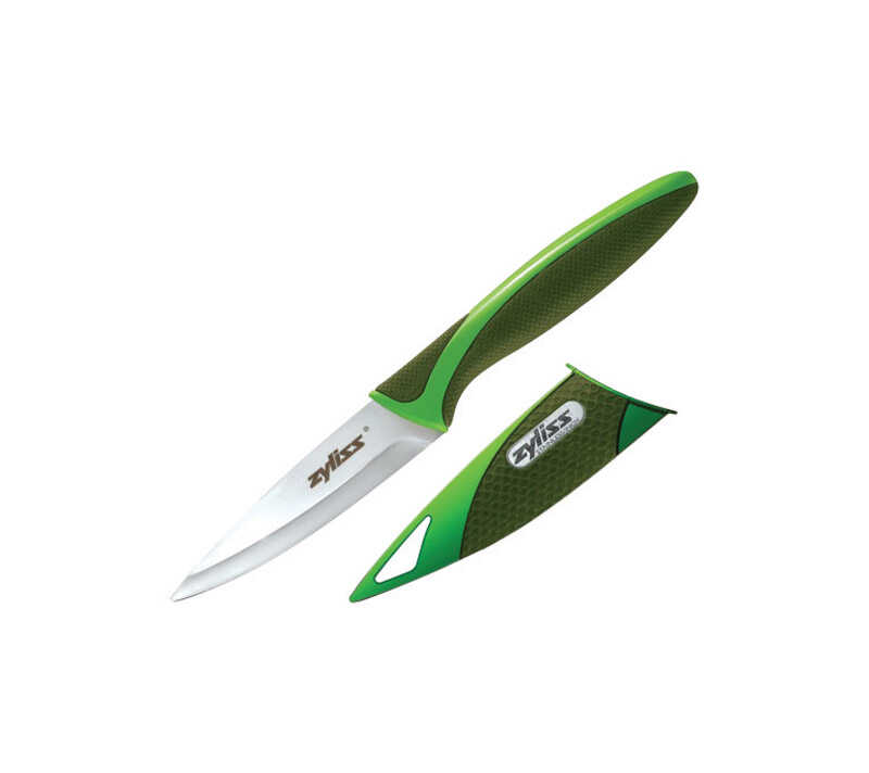 Zyliss  4.25 in. W x 0.63 in. L Green  Paring Knife