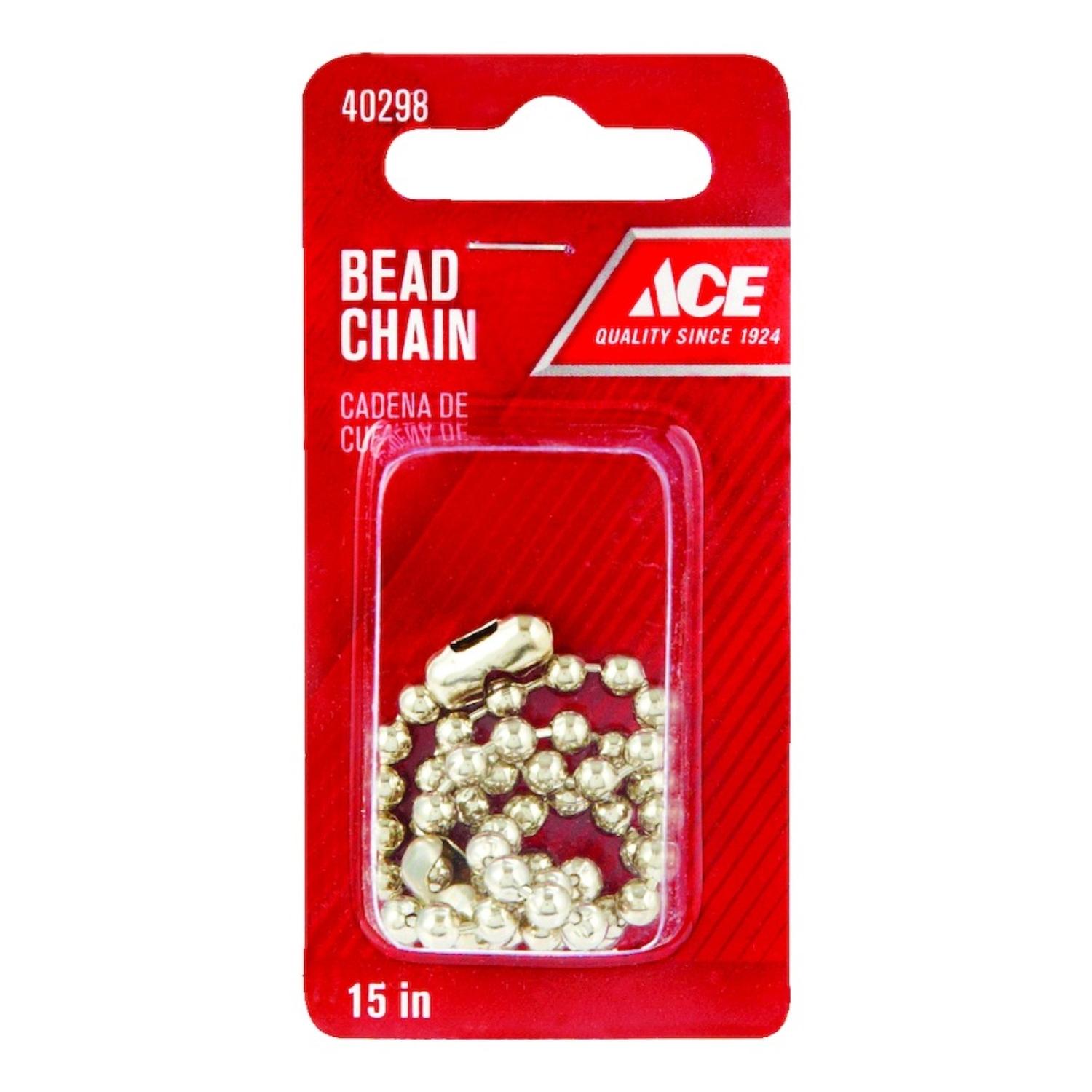 Ace  Standard  Dia. Beaded Chain  Polished Chrome  Chrome