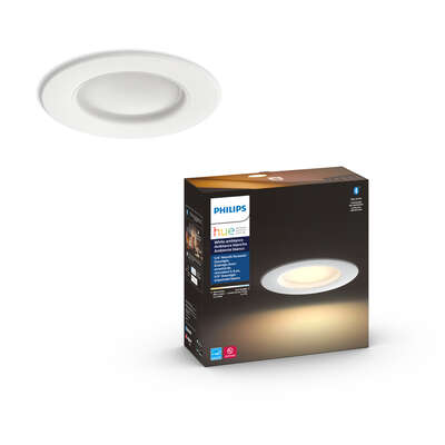 Philips  Hue  Round  E26 (Medium)  Retrofit Kit  White  65 Watt Equivalence 1 pk