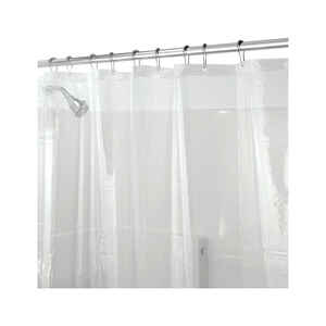 InterDesign  72 in. H x 72 in. W Clear  Eva  Shower Curtain Liner  PEVA