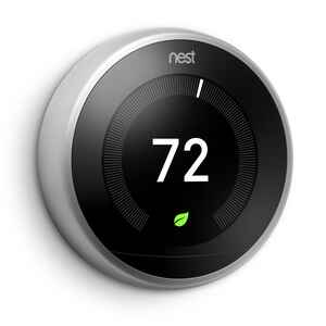 Nest  Learning Thermostat - 3rd Generation  Built In WiFi Heating and Cooling  Lever  Smart Thermost