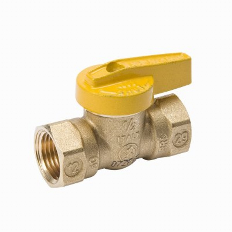 B & K  Gas Ball Valve  3/4 in. FPT   x 3/4 in. Dia. FPT  Brass  One Piece