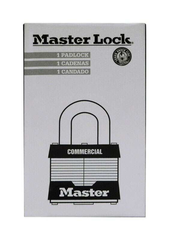 Master Lock  1.75  H x 1.75  W Laminated Steel  Padlock  1  Keyed Alike Dual Ball Bearing Locking