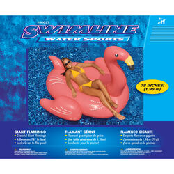 Swimline  Pink  Vinyl  Inflatable Flamingo  Pool Float