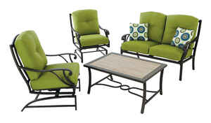 Living Accents  Somerset  4 pc. Somerset  Deep Seating Set  Green