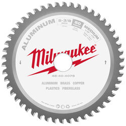 Milwaukee  Metal Tech  5-3/8 in. Dia. x 20 mm  Non-Ferrous  Carbide  Metal Blade  50 teeth 1 pk