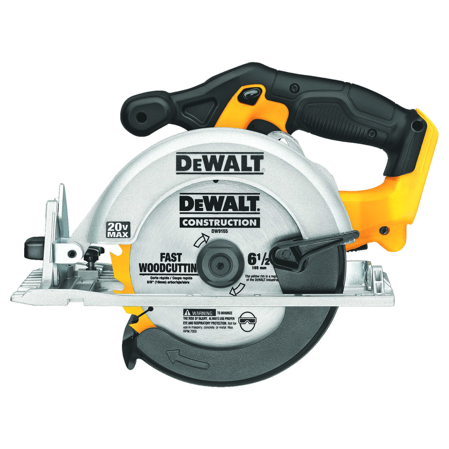 DeWalt  6-1/2 in. 20 max volts Cordless  Circular Saw  5150 rpm