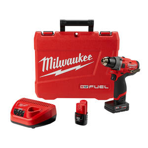 Milwaukee  M12 FUEL  12 volt Brushless  Cordless Drill/Driver  Kit  1/2 in. 1700 rpm