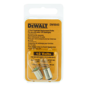 DeWalt  Xenon  Flashlight Bulb  12 volt Pin/Plug-In Base