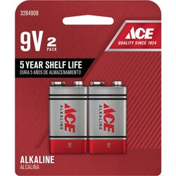 Ace  9-Volt  Alkaline  Batteries  2 pk Carded