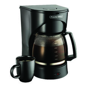 Proctor Silex  12 cups Black  Coffee Maker  Black/White