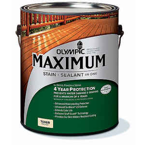 Olympic  Maximum  Semi-Transparent  Redwood  Stain and Sealer  1 gal.