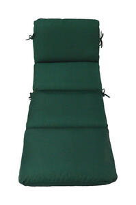 Casual Cushion  Green  Polyester  Seating Cushion  3.5 in. H x 23 in. W x 74 in. L
