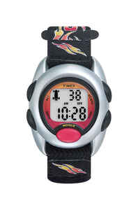 Timex  Unisex  Round  Black  Sports Watch  Digital  Nylon  Water Resistant