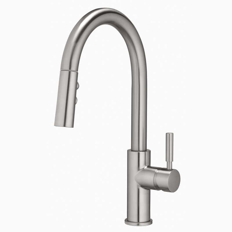 OakBrook  Vela  Pull-Down  One Handle  Brushed Nickel  Pulldown Kitchen Faucet