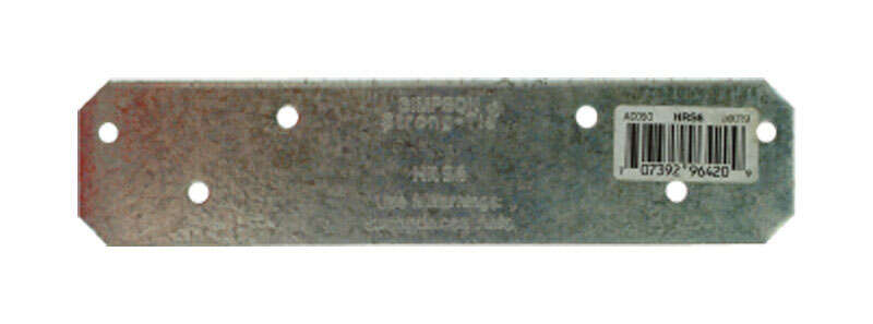 Simpson Strong-Tie  6 in. H x 0.13 in. W 12 Ga. Galvanized Steel  Strap