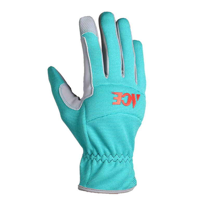 Ace  Women's  Indoor/Outdoor  Synthetic Leather  Utility  Work Gloves  Green  L