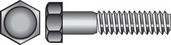 Hillman 3/8-16 in. Dia. x 1 in. L Stainless Steel Hex Head Cap Screw 50 pk