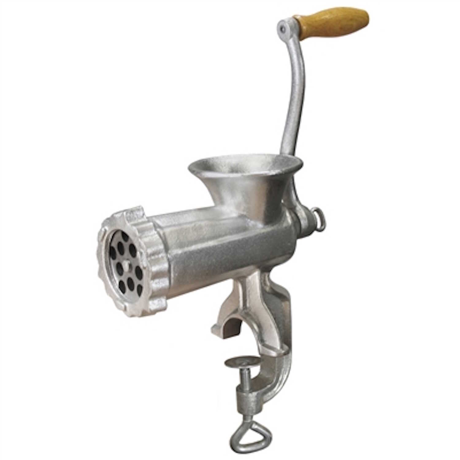 Weston  Electroplated Tin Coated  Silver  Manual speed Meat Grinder