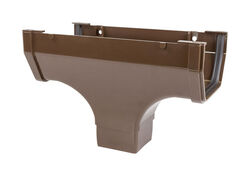 Genova  Highflo  Brown  Vinyl  Gutter Drop Outlet