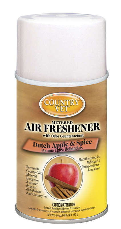 Country Vet  Dutch Apple and Spice Scent Air Freshener Refill  6.6 oz. Aerosol