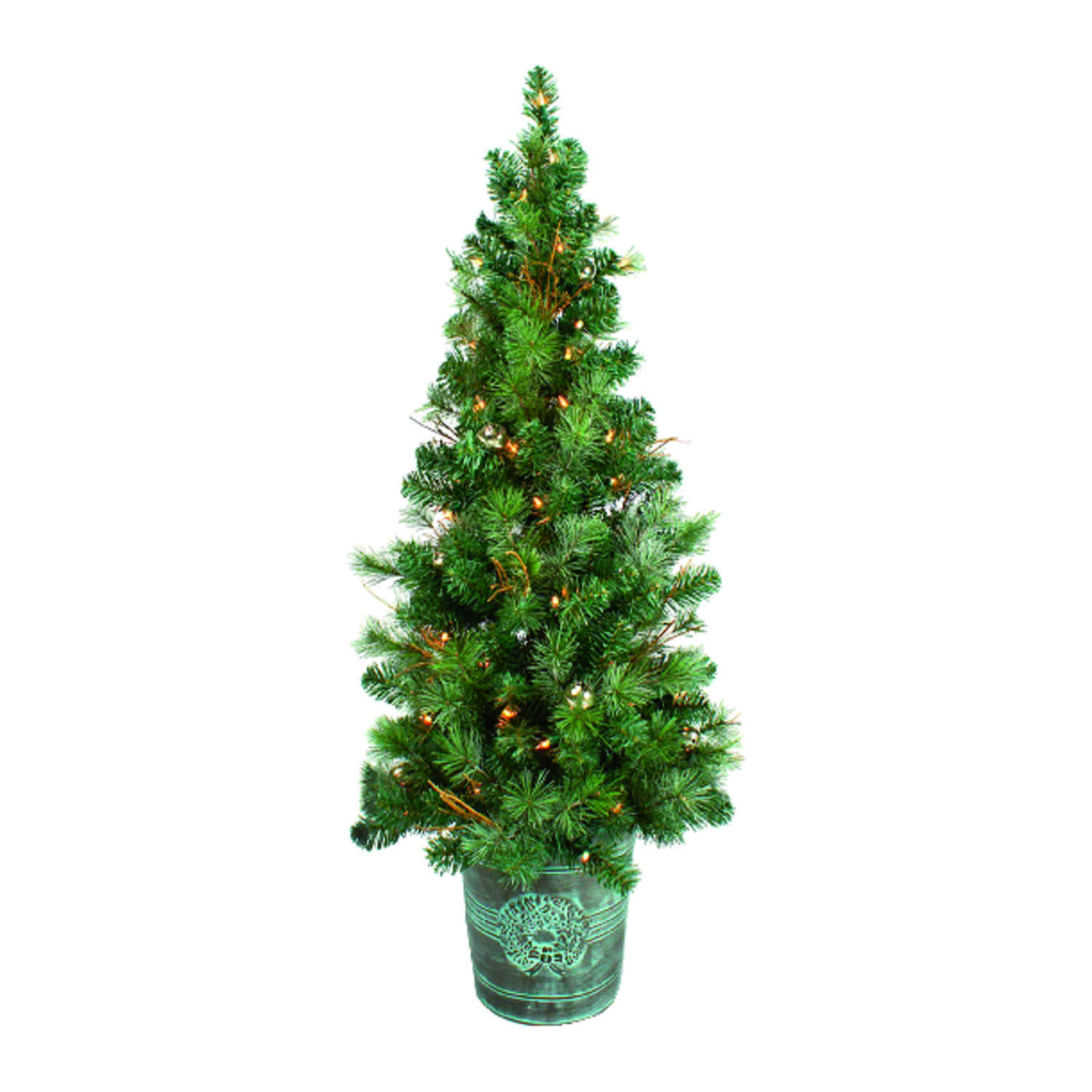 Celebrations  Clear  Prelit 4 ft. Crestwood  Artificial Tree  100 lights 212 tips