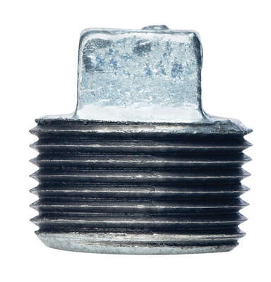 BK Products  2-1/2 in. MPT   Galvanized  Malleable Iron  Plug