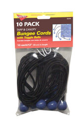 Keeper Black/Blue Bungee Ball Cord 12 in. L x 0.1565 in. 10 pk