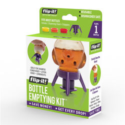 Flip-It Purple Polypropylene Bottle Emptying Kit