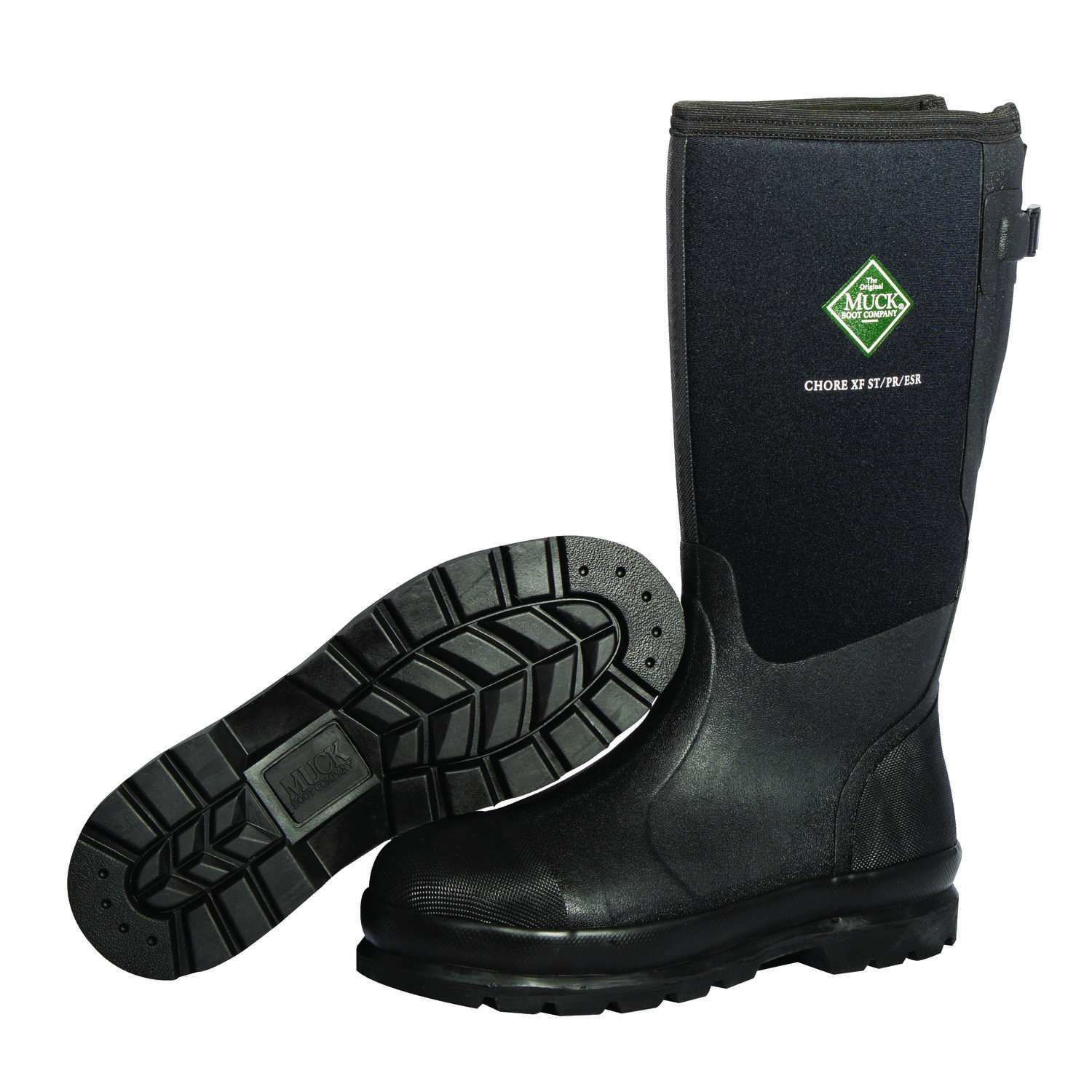 The Original Muck Boot Company Chore XF Men's Rubber/Steel Classic Boots Black 11 US Waterpr
