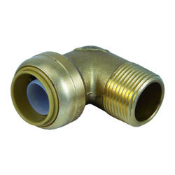 SharkBite 3/4 in. Push x 3/4 in. Dia. MPT Brass Elbow
