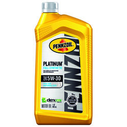 PENNZOIL  Platinum  5W-30  4 Cycle Engine  Synthetic  Motor Oil  1 qt.