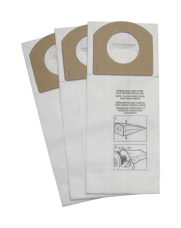 Dirt Devil Royal Vacuum Bag Style G Fits Royal Peggable Polybag 3 / Pack Hand Held Vacuum