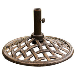 Hanover  Brown  Iron  Umbrella Base  18 in. L x 18 in. W x 13 in. H