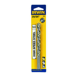 Irwin  29/64 in. Dia. x 5-5/8 in. L High Speed Steel  Drill Bit  5 pc.