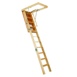 Louisville  10.3 ft. H x 22.5 in. W Wood  Attic Ladder  Type 1  350 lb. capacity