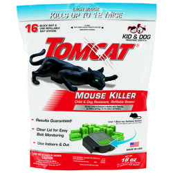 Tomcat  Bait Station  Blocks  For Mice 1 pk