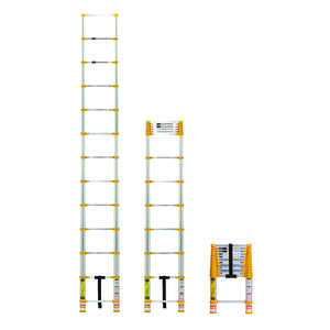 Xtend & Climb  12.5 ft. H Aluminum  Extension Ladder  225 lb. Type II