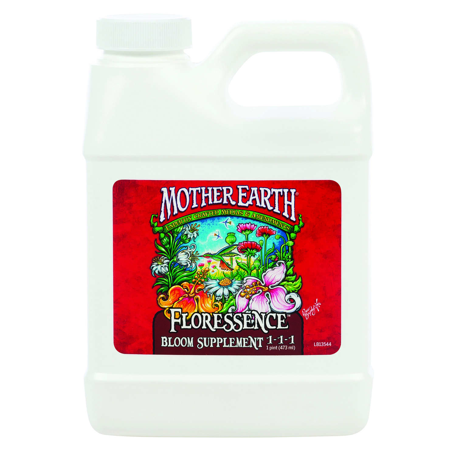 Mother Earth  Floressence Bloom Supplement 1-1-1  Hydroponic Plant Supplement  1 pt.