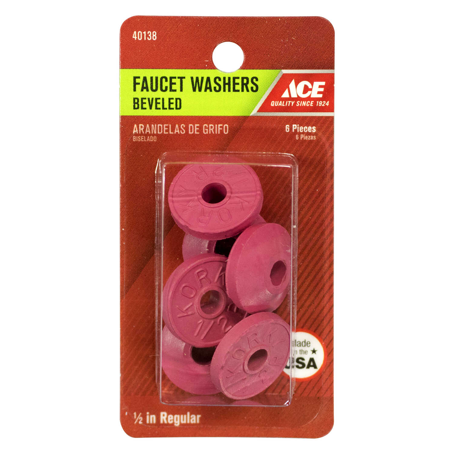 Ace  0.5 in. Dia. Rubber  Beveled Faucet Washer  6